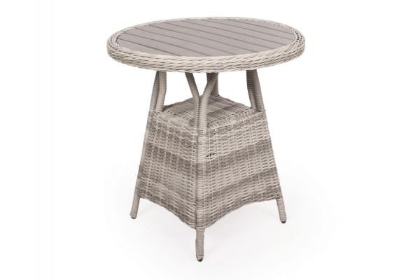 Siesta Lys Grå Cafebord - Ø 70 cm