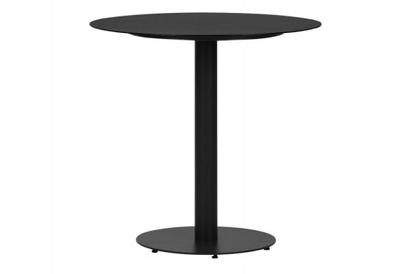 Cafebord - Ø70 cm - Sort metal