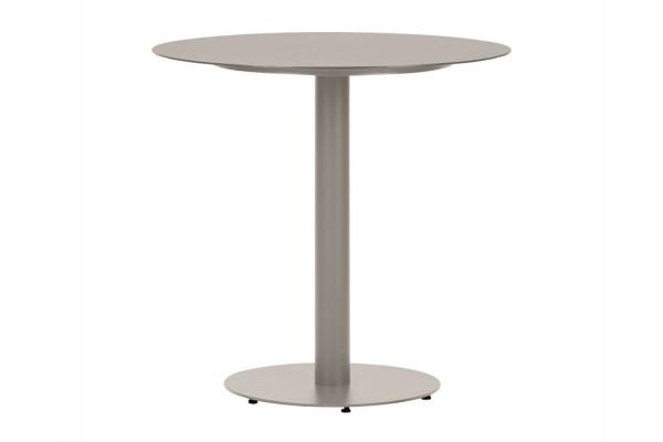 Cafebord - Ø70 cm - Grå metal