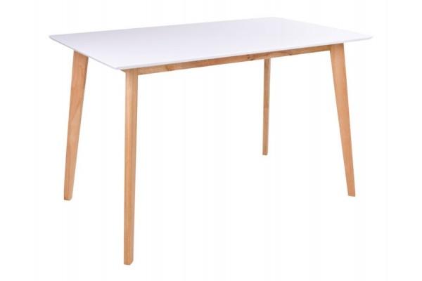 Vojens Spisebord - Hvid m/naturfv. ben - 70 x 120 cm