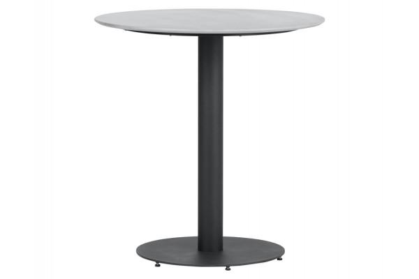 Cafebord - Ø70 cm - Sort metal/Grå...