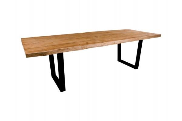 Lynge Plankebord - Teak m. sorte metalben - 250 x 100 cm