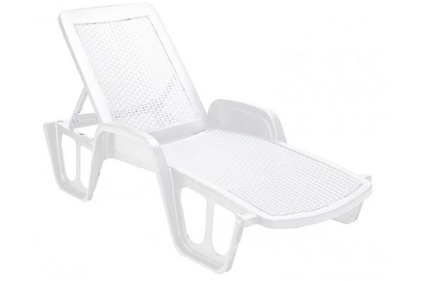 Køb Plast solseng – Stabelbar – Hvid