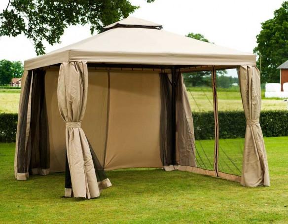 luxus pavillon 3x3 meter beige. Black Bedroom Furniture Sets. Home Design Ideas