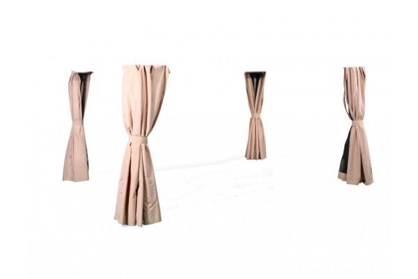 Extra Sider til Luxus Pavillon 3x4 m - Beige