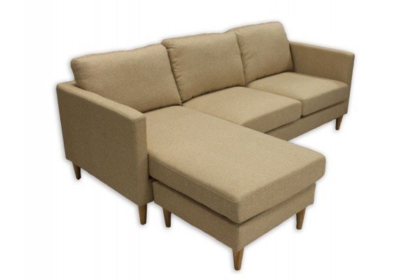 Image of   Thea Loungesofa m/chaiselong - Beige