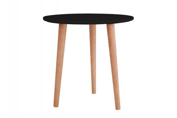 Soku Rundt sofabord - H: 47 cm - Sort/natur