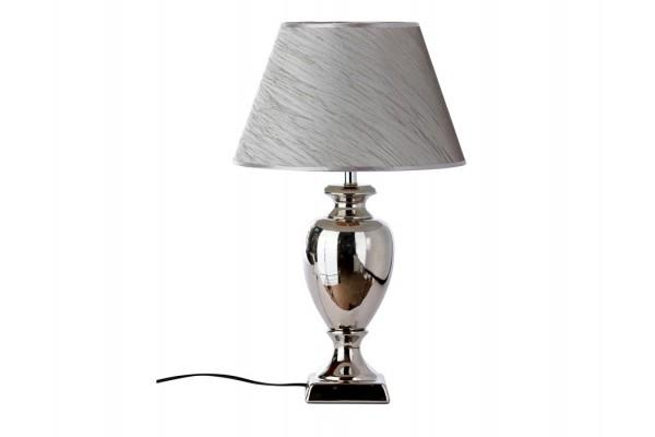 "Bordlampe - Grå/sølv - 56 cm - 14"" skærm"