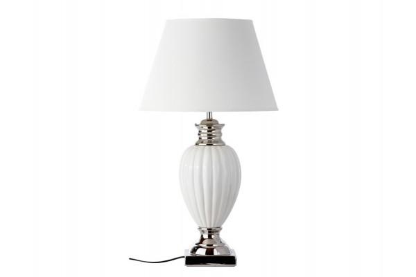 "Image of   Bordlampe - Hvid/sølv - 73 cm - 18"" skærm"