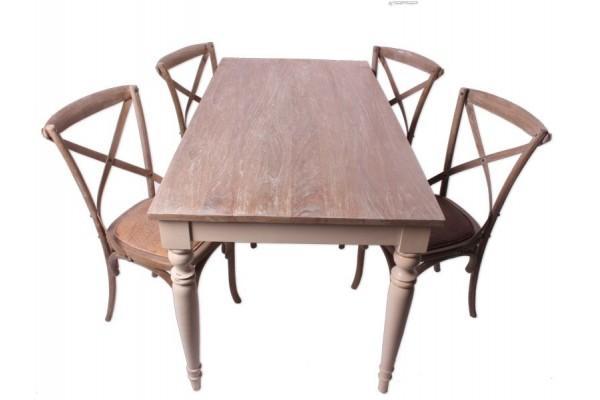 Image of   Manado - Sæt m/bord og 4 stole