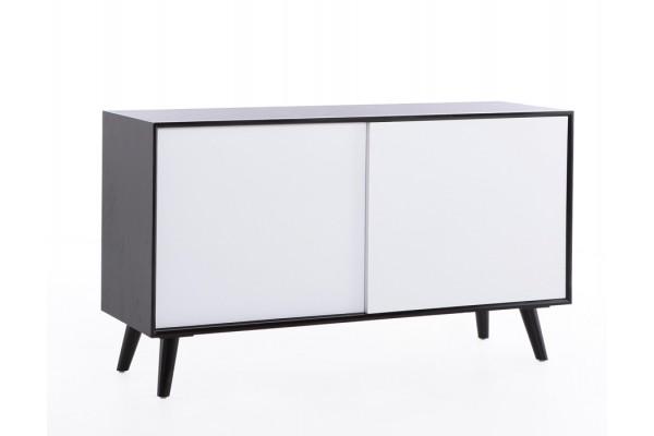 Image of   Retro skænk - hvid/sort