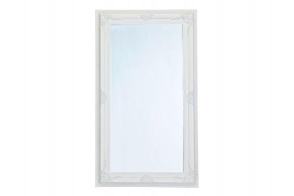 Image of   Spejl m/facetslebet glas - hvid m/sølv - 103 x 178 cm