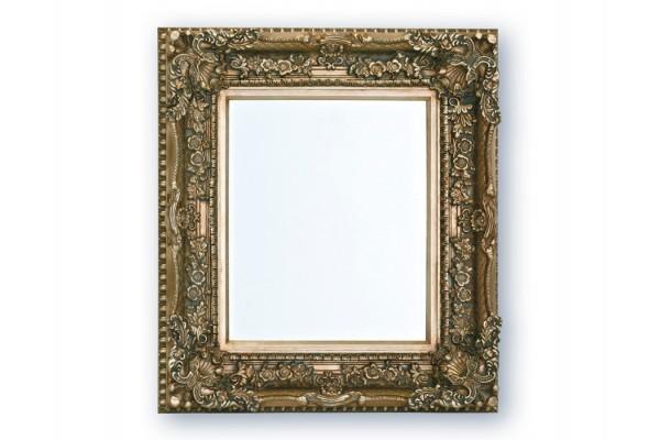 Spejl m/facetslebet glas - Sølv - 83x93 cm