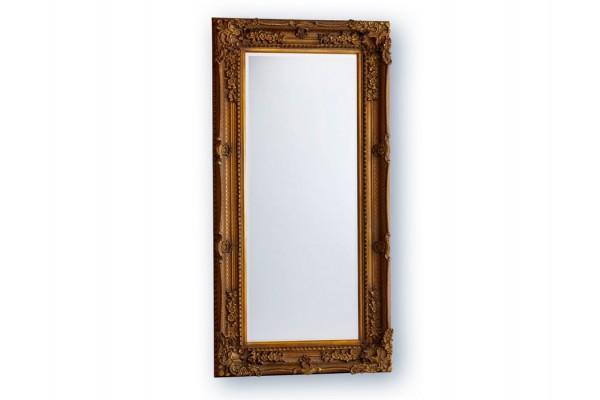 Image of   Spejl m/facetslebet glas - Antikguld - 93 x 183 cm