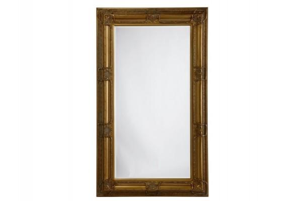 Image of   Spejl m/facetslebet glas - Guld - 120 x 200 cm
