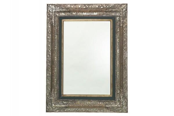 Image of   Spejl m/facetslebet glas - sølv - 101 x 131 cm