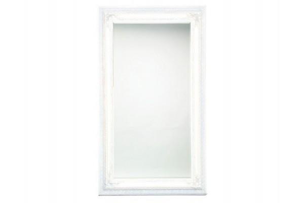 Image of   Spejl m/facetslebet glas - hvid/sølv - 120 x 200 cm