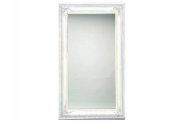 Spejl m/facetslebet glas - hvid - 93 x 183 cm