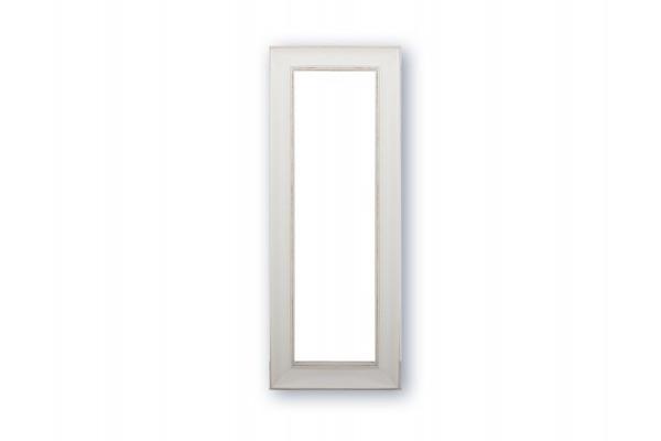Spejl m/facetslebet glas - Hvid - 50 x 130 cm