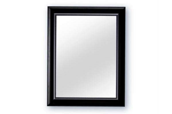 sort spejl Spejl m/facetslebet glas   Sort   70 x 90 cm sort spejl