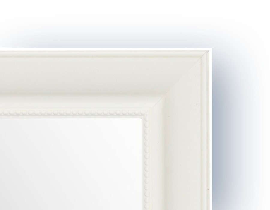 Groovy Spejl m/facetslebet glas - Hvid - 70 x 90 cm JN-31