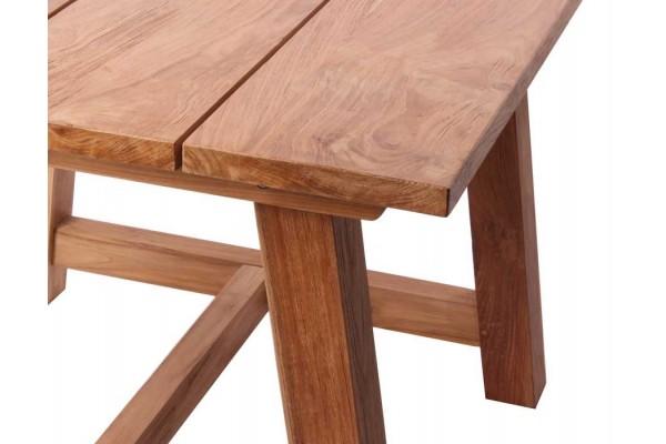 Hercules teak bord - 4 planker (100x100)