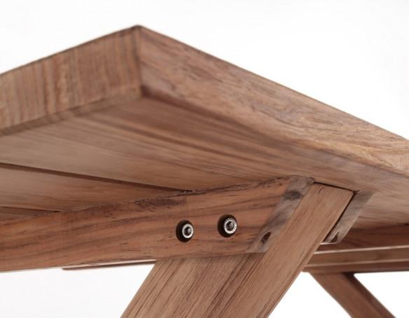 Thor Greenface Teak Plankebord m/x-legs - 100x240 cm
