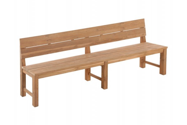Mega Recycle Plankebænk m/ryglæn - 290 cm