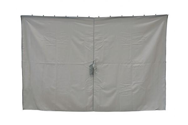 Extra Sider til Luxus Pavillon 3x3 m - Lys grå