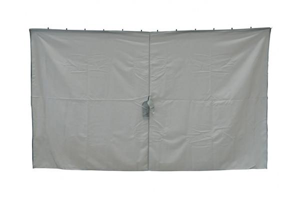 Extra Sider til Luxus Pavillon 3x4 m - Lys grå