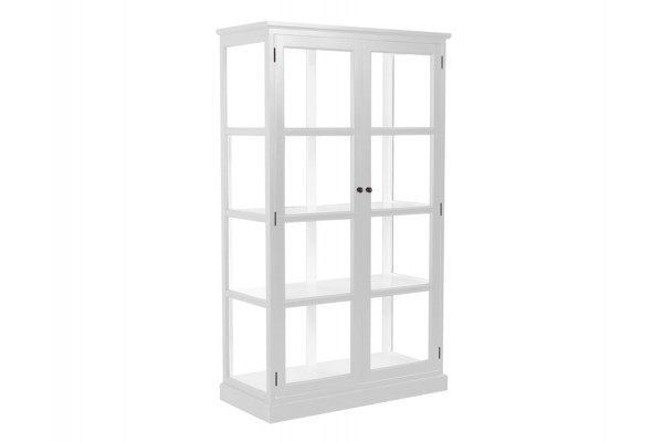 glasskab Glasskab m/2 låger   Hvid glasskab
