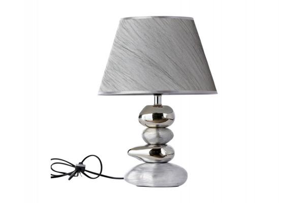 """Image of   Bordlampe - Sølv - 42 cm - 12"""" skærm"""