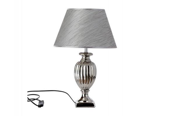 """Image of   Bordlampe - Sølv - 51 cm - 13"""" skærm"""