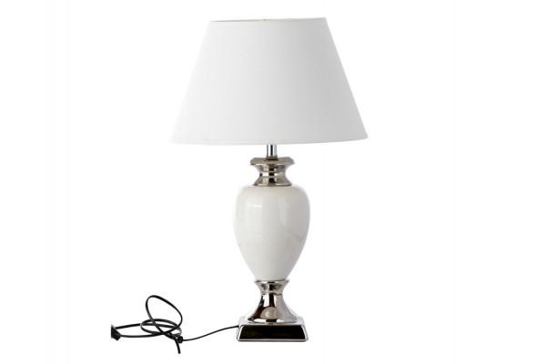 "Image of   Bordlampe - Hvid/sølv - 56 cm - 14"" skærm"