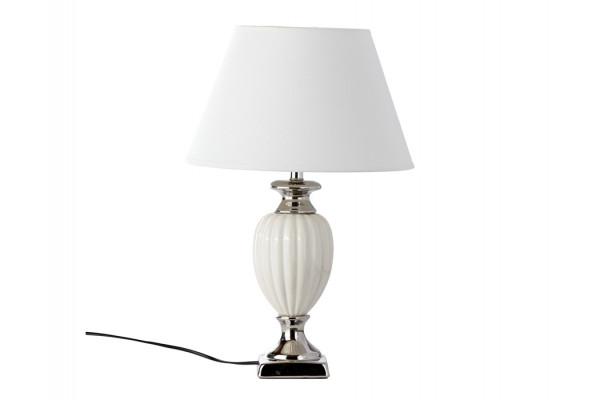 "Image of   Bordlampe - Hvid/sølv - 51 cm - 13"" skærm"