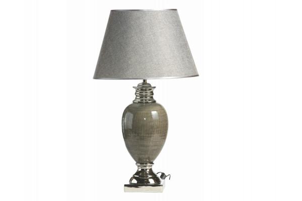 "Image of   Bordlampe - Mørkegrå/sølv - 73 cm - 18"" skærm"
