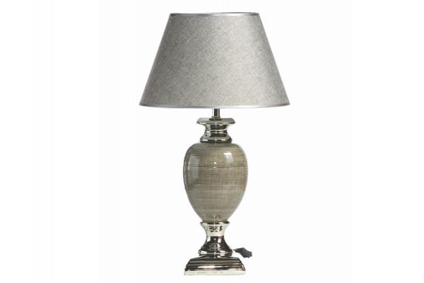 "Image of   Bordlampe - Mørkegrå/sølv - 56 cm - 14"" skærm"