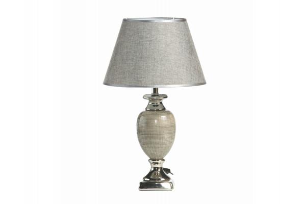 "Image of   Bordlampe - Mørkegrå/sølv - 49 cm - 12"" skærm"