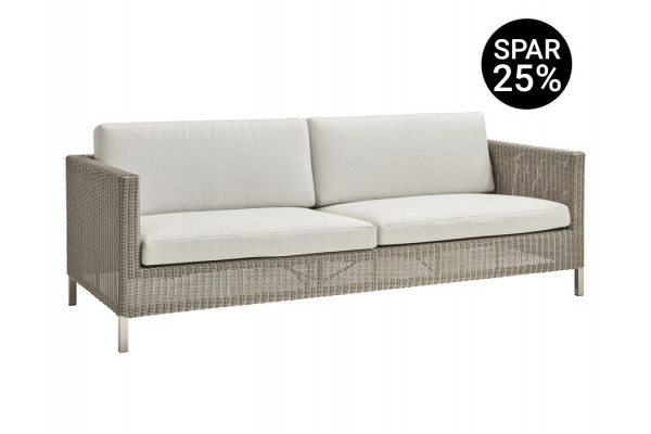 Image of   Cane-line Connect 3 pers. sofa m/hynder - Taupe/White