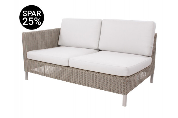 Image of   Cane-line Connect 2 pers. sofa m/hynder - Højre - Taupe