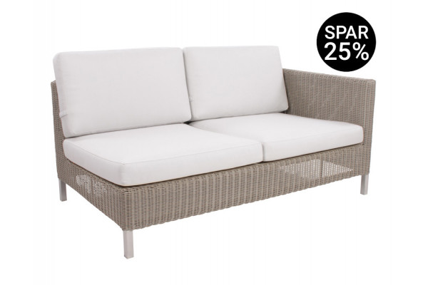 Image of   Cane-line Connect 2 pers. sofa m/hynder - Venstre - Taupe