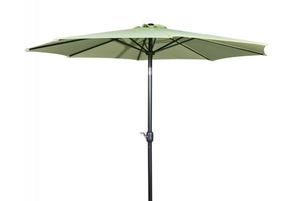 Image of   Alu parasol med tilt - Ø 3 meter - Lys Olivengrøn