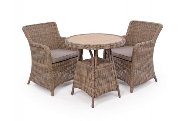 Image of Siesta Dusty Cafesæt m/2 spisestole - Ø 70 cm