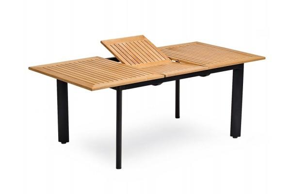 Dala Alu/Teak udtræksbord - 96x150/200 cm