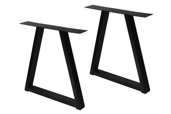 Image of   Bordben i Aluminium - Trapez - 2 stk. - Sort
