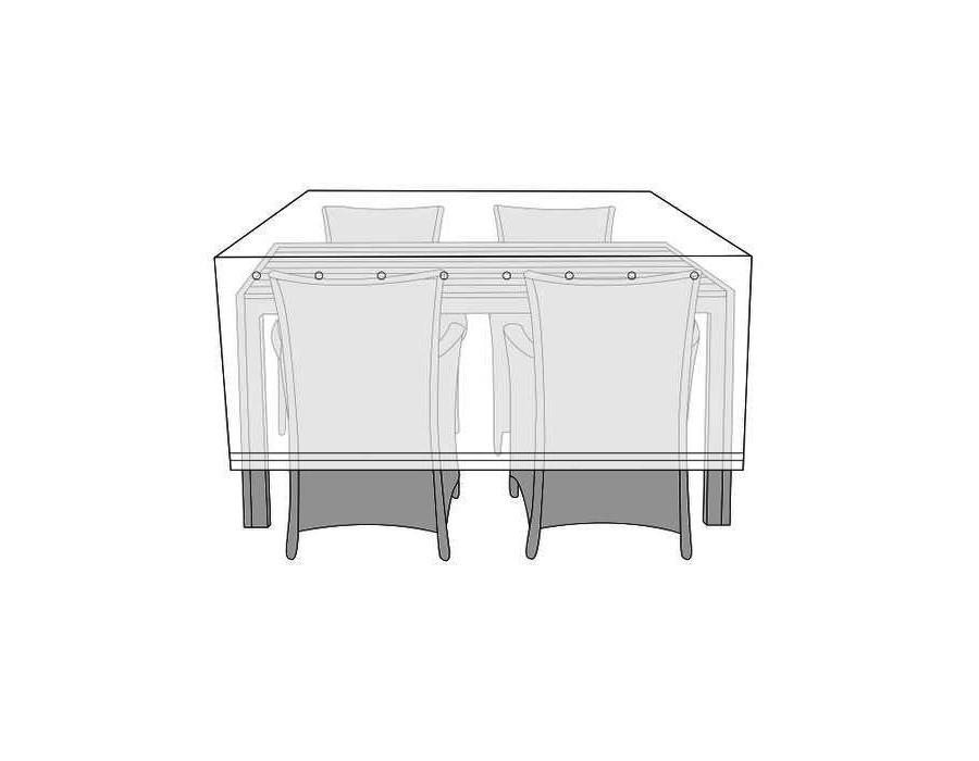 Overtræk (130x170) til bord med 4 stole