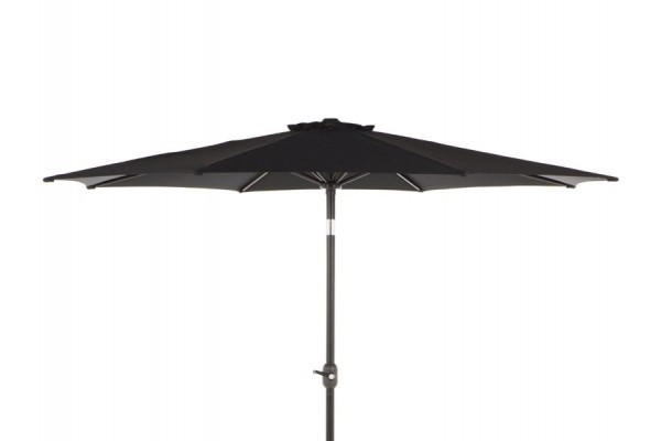 Image of   Alu parasol med tilt - Ø 3 meter - Sort