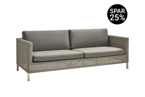 Image of   Cane-line Connect 3 pers. sofa m/hynder - Taupe/Brown