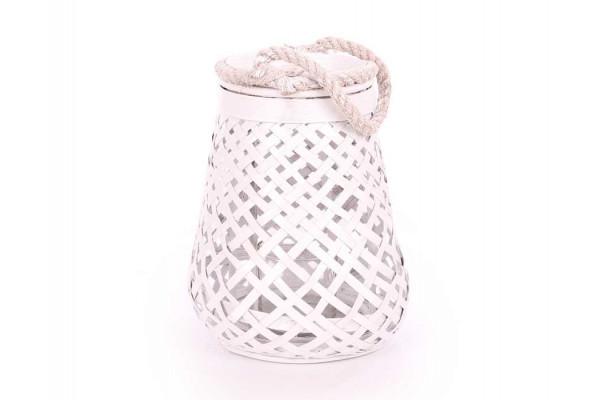 Lanterne - Bambus - Hvid