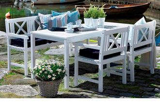 hvide havemøbler udsalg